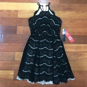 NWT Trixxi Clothing Co. Black Lace Dress.